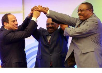 Hailemariam, El Sisi and Al Beshir