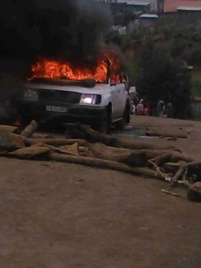 car buring in Gondar